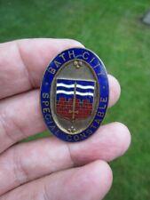 More details for vintage bath city special constable enamel badge by fattorini + sons bradford ex