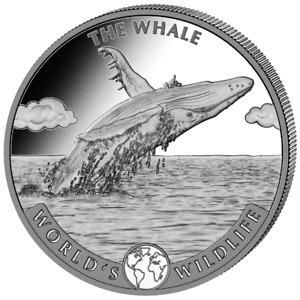 Kongo 20 Francs 2020 Der Wal World´s Wildlife (2.) Anlagemünze - 1 Oz Silber ST