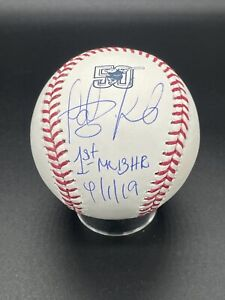 "Fernando Tatis Jr. Padres Signed ""1st HR"" 50th Anniversary Baseball JSA COA"