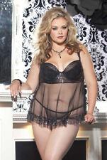 Shirley Of Hollywood X25269 Underwire Babydoll Plus/Queen Size 1X Sexy Nightwear