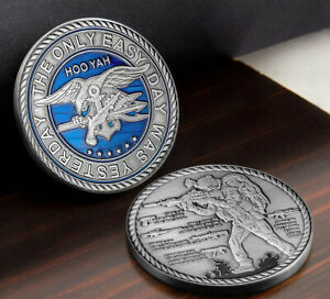 Navy Seals Challenge Coin Weapons Silver Military Hardware Collectible