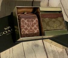 NWT Coach ID Wallet And Socks Gift Box Metallic Wine Holiday 2019