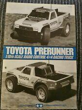 Tamiya Instruction Manual For 58136 Toyota Prerunner Same Chevy S10 Ford F150