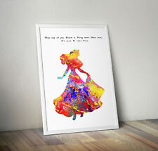 Sleeping Beauty, print, poster, picture, quote, wall art, gift, disney, decor