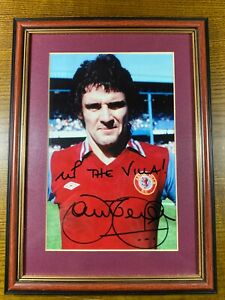 John Gregory Signed Framed & Mounted Photo Aston Villa Personally Acquired