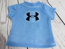 Blue Under Armor Inspired Graphic T-Shirt fits American Girl Dolls or Boy Dolls