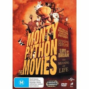 Monty Python - The Movies DVD 4-Movies New / Sealed Free Post