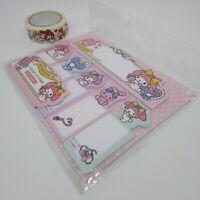 Sanrio Melody Sticky Note Marker + Marking Tape Stationary