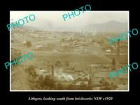 OLD LARGE HISTORIC PHOTO OF LITHGOW NSW, VIEW OF THE TOWNSHIP c1920