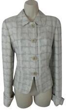 Armani Collezioni 6 42 silver beige metallic jacket blazer top Antinea