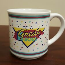 To A Great Boss M & D Balloons 1991 Coffee Mug #185000