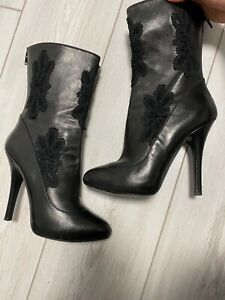 authentic dolce gabbana ankle boots size 39! lace!!!