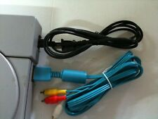 Blue 10ft AV Cable & AC Power Adapter Cord SET for Playstation 1 - NEW
