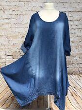Moonshine Fashion Jeans Robe Tunique Coin superposé grande taille 44 46 48 NOUVEAU