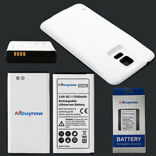 7500mAh Extended Battery for Samsung Galaxy S5 SM-G900 GT-i9600+White Case Cover