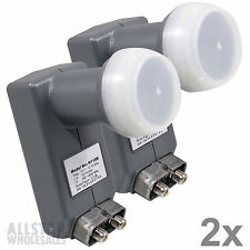 LNBF NEXspark Dual Twin Output LNB 118.8 118.7 119 118 Satellite Dish 2 Lot