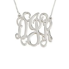 """Monogram Necklace - 1"""" Small Personal Monogram - Silver Pendant - oNecklace ®"""