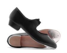 Katz Ladies Size 8  Black PU Low Heel Tap Dance Shoes By Katz Brand New Boxed