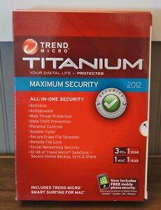 """New! Trend Micro Titanium """"Maximum Security"""" (2012) [1 PC/1 Mac (1 Year)]"""