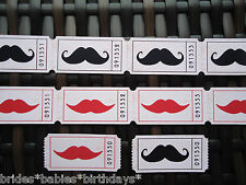 20 Admit One Carnival Drink Tickets Moustache or Lips Wedding Favour Birthday