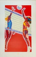 VOLLEYBALL - Limited Edition Serigraph Signed & Numbered Artist: Hiro Yamagata,