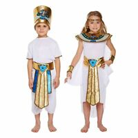 Henbrandt Boys Girls Egyptian King Pharaoh Queen Historic Fancy Dress Costume