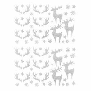 78 Weihnachts Sticker Glitzer Aufkleber für Weinachten Weihnachtsdeko - wählbar