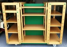 More details for display units on wheels with shelves-multi section wood & metal- collection only