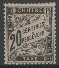 "FRANCE STAMP TIMBRE TAXE N° 17 ""  TYPE DUVAL 20c NOIR "" NEUF x TTB SIGNE  N951"