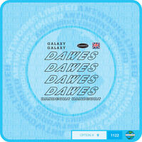 Dawes Galaxy Decals Bicycle Transfers - Black - Set 9