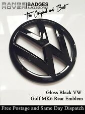 VW golf MK6 Gloss black Rear badge emblem 2009-2012 GTI TDI TSI