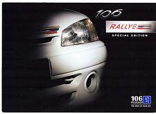 Peugeot 106 Rallye 1.6 Edición Limitada 1997-98 mercado del Reino Unido Folleto de ventas