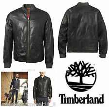 Da Uomo TIMBERLAND Mount Webster Lambskin Leather Bomber Biker Cappotto M £ 648