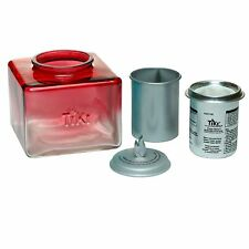 """New listing Tiki Brand 5"""" Clean Burn Glass Ombre Ice Table Torch, Red glass- pretty. fire"""