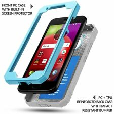 Case For Moto E4 / E 4th Generation Poetic【Revolution】Shock Absorbing Case Blue