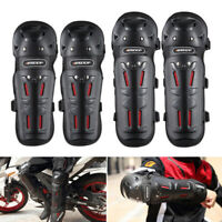 4× Motorcycle Elbow Forearm Knee Shin Armor Protector Guard Pad Dirt Bike Gear