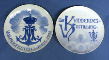 Antique Royal Copenhagen Kvindernes Udistilling Plate w/B & G 1908 Commemorative