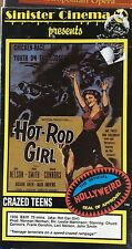 Hot Rod Girl (VHS) 1956 teen drama stars Chuck Connors-Sinister Cinema packaging