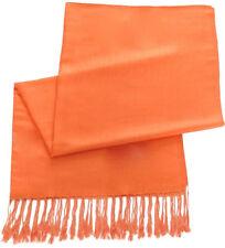 Color sólido naranja Chal Pashmina Bufanda Envolvente Estola tirar chales CJ Apparel Nuevo