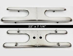 "Sunbeam Stainless Steel H Style Dual Burner w/ Feet - 22"" x 7 1/4"" | Gas Grill"
