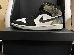 Jordan 1 Mid Camo Green -Size 9.5 / 43EUR CW5490-001