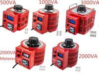 Auto Variac Variable Transformer 0.5/1/2/3KVA AC Regulator AC Variable Digital