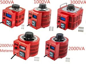 Auto Variac Variable Transformer 0.5/1/2/3KVA AC Regulator AC Variable Digital