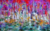 ORIGINAL Abstract Landscape Painting Oil on Canvas by Artist - Wall Art 18x24