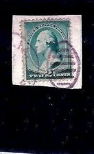 Us 1800s Fancy Cancel = Purple Scarab & Matching Partial Cds on Piece