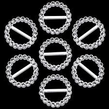 30mm Round Plastic Slider Buckle Silver for Embellishment Ribbon Crafts 100pcs
