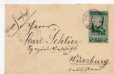 BOSNIA: Postal statinery to Germany 1906 Arr.canc.