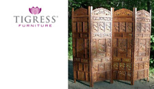 """""""Elephant"""" Brown Hand Carved Hardwood Timber Wooden Screen"""