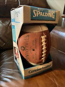 Vintage 1980's Spalding Football Official Size With Tee! New Never Opened!