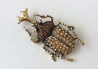 Unique Insect  Beetle large Pin brooch  In Enamel on Metal